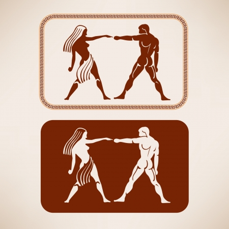 Ancient Greek restroom symbols Vector