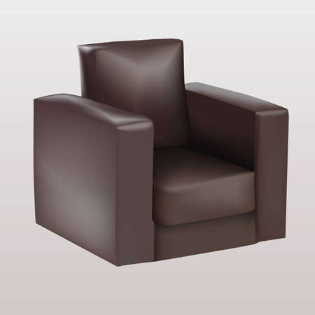 Brown armchair Vector