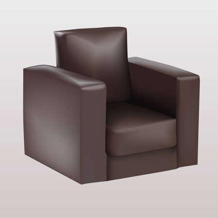 Brown armchair Stock Vector - 16429532