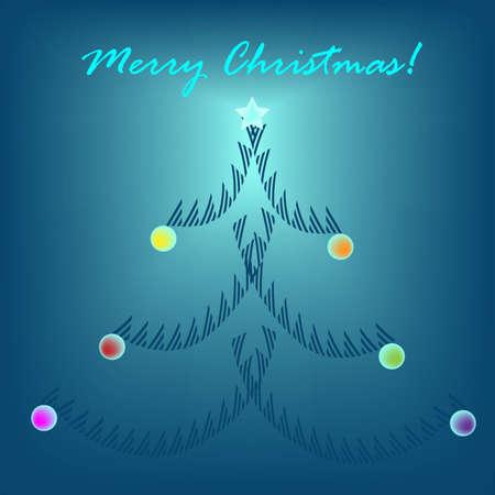 Minimal Christmas greeting card Vector
