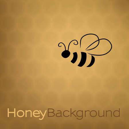 miel et abeilles: Fond de miel avec abeille