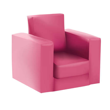 Raspberry armchair