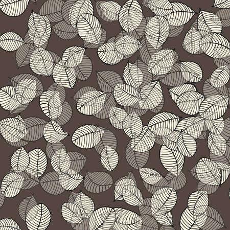 Leaves pattern on brown