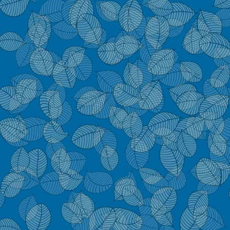 veiny: Leaves pattern on blue