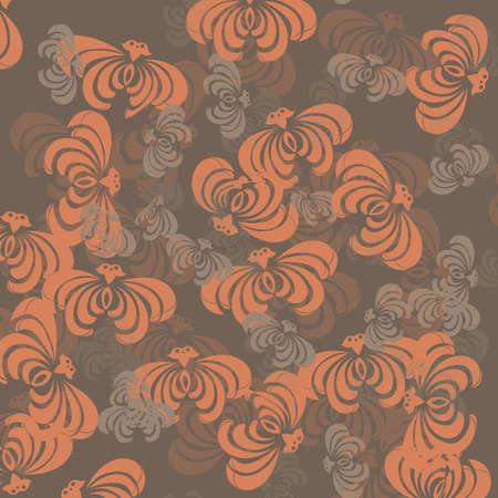 Orange and brown vintage Vector
