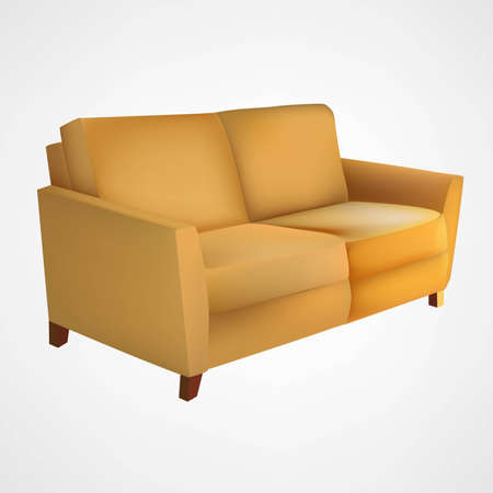 settee: Yellow couch