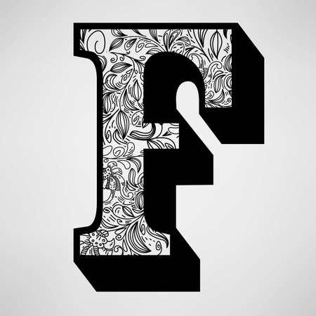 Letter F - Ornamental Initial Stock Vector - 16555308