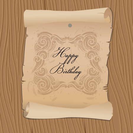 Happy Birthday - western style Stock Vector - 16612838