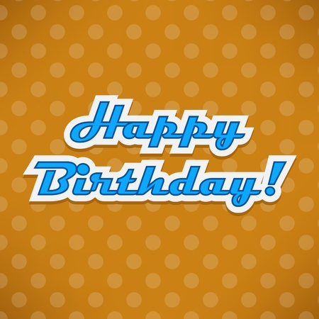 Happy Birthday card with dots Stock Vector - 16612872