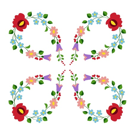 Hungarian folk embroidery pattern