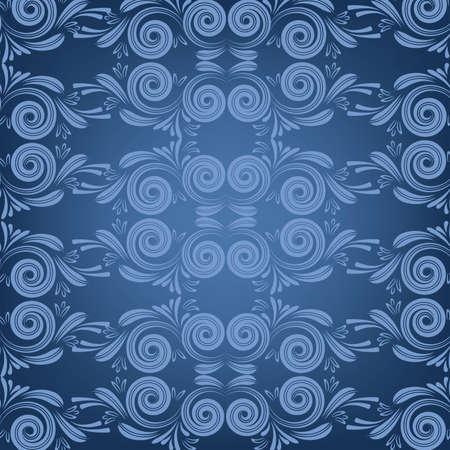 terciopelo azul: Terciopelo adorno azul Vectores