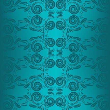 Turquoise ornament Illustration