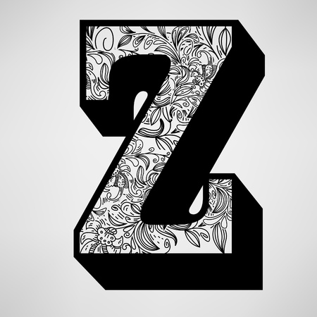 Letter Z - Ornamental Initial