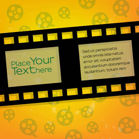 Tape with text on yellow background Vector