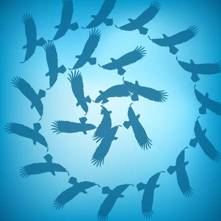 Animal background with eagles Vector