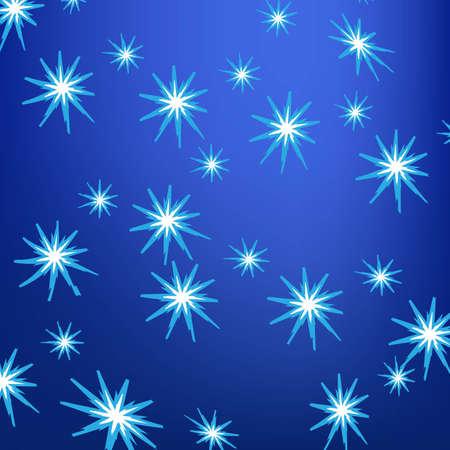 Frost flowers pattern