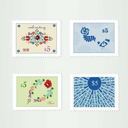 peace stamp: Landscape ornamental stamps