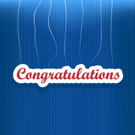 Congratulations card with dots