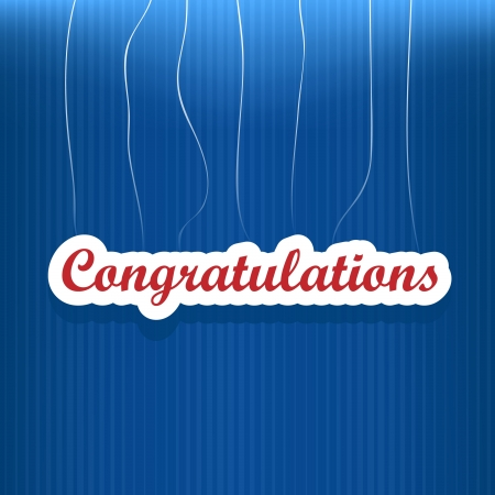 congratulations banner: Congratulations card with dots