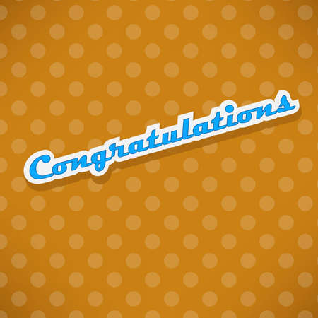 Congratulations card with dots Stock Vector - 17092439