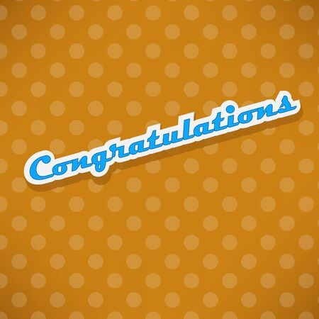 spotter: Congratulations card with dots