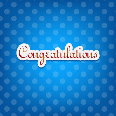 Congratulations card with dots Vector