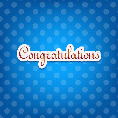 felicitaciones: Tarjeta de felicitaciones con puntos