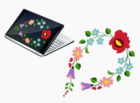 macar: Güzel Macar nakış deseni ile Notebook dekor Çizim