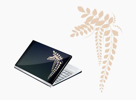 Notebook decor with acacia ornament Stock Vector - 17310392