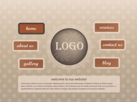 Website template with dots