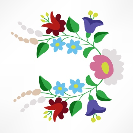 Little colorful Hungarian folk embroidery pattern Illustration