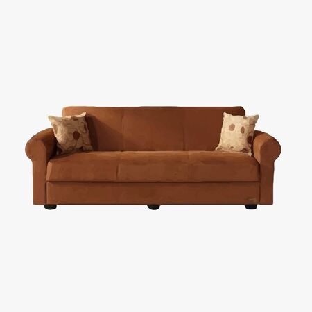 comfy: Brown couch with pillows
