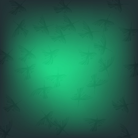 Green nazca pattern with birds