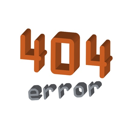 ooops: Vector page 3d Error 404 Illustration