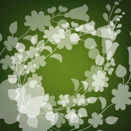 Kalocsai pattern on green