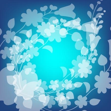 Kalocsai pattern on blue