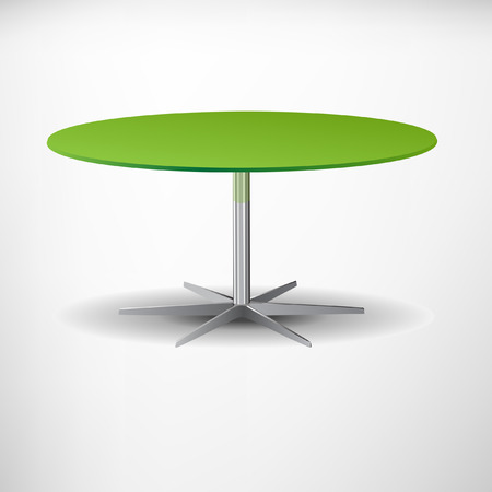 green table with shadow Illustration