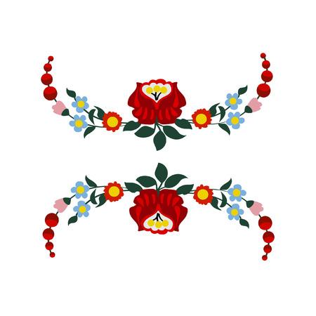 Hungarian folk embroidery pattern