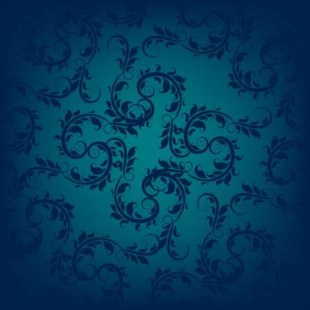 blue abstract: Blue ornament on turquoise