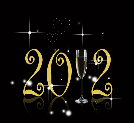 happy new year 2012 Stock Photo - 11299113