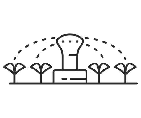 Irrigation sprinkler icon. Garden automatic watering. Symbol for website.