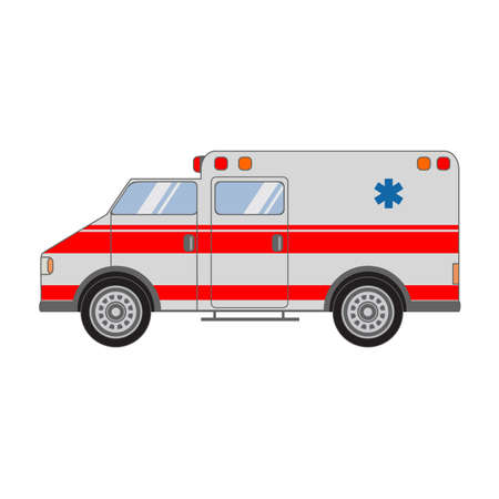 Car of fast medical care.The car with Serena and the flasher of the emergency service of rescue.