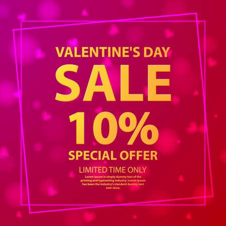 Valentine s day sale offer 10 .Shop market poster.