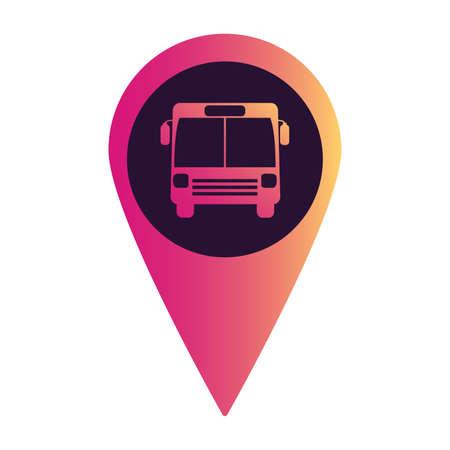 Destination bus icon. Public transport. Vehicle flat 向量圖像