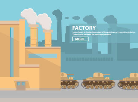 Factory on production and assembly of military equipment of armored fighting vehicles of tanks guns and towers.