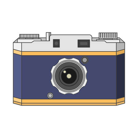 Old a retro the vintage camera.Camera concept for design of the websites and polygraphy.