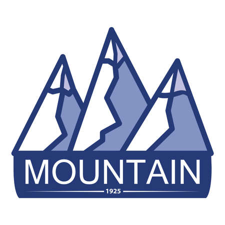 Mountain camping outdoor adventure. The symbol for a mobile application or website. 向量圖像