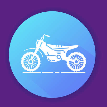 Icon motorcycle a flat line art style.