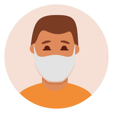 Man in face mask to prevent disease