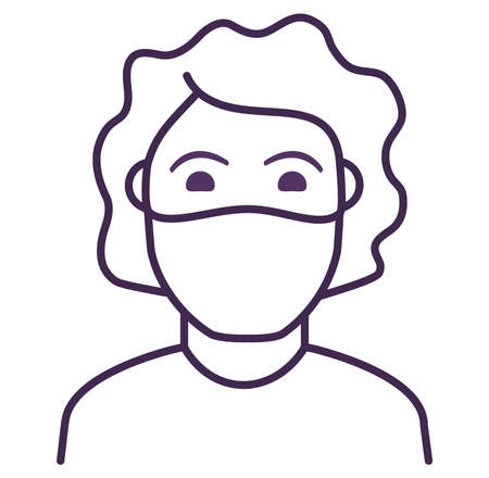 Woman in face mask to prevent disease COVID-19.